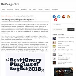 50+ Best jQuery Plugins of August 2013
