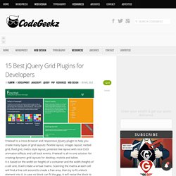 15 Best jQuery Grid Plugins for Developers