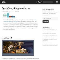 Best jQuery Plugins of 2010 | Resources