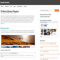 51 Best jQuery Plugins