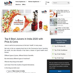 Top 6 Best Juicers in India 2020 with Pros & Cons