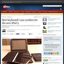 Best keyboard/ case combos for the new iPad 3