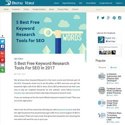 5 Best Free Keyword Research Tools for SEO in 2017