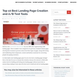 Top 10 Best Landing Page Creation and A/B Test Tools