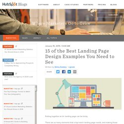 15 of the Best Landing Page Design Examples You Need to See