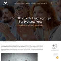 The 3 Best Body Language Tips For Presentations