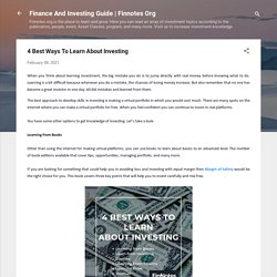 4 Best Ways To Learn About Investing