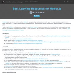 Best Learning Resources for Meteor.js