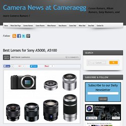 Best Lenses for Sony A5000, A5100