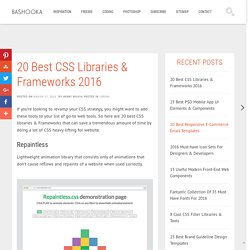 20 Best CSS Libraries & Frameworks 2016
