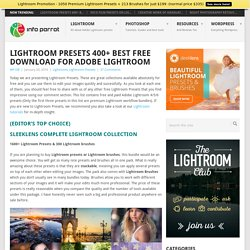 50+ Best Lightroom Presets 2015 All Free Adobe Lightroom