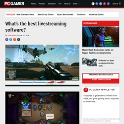 The best livestreaming software