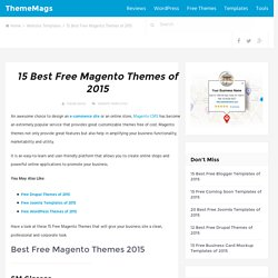 15 Best Free Magento Themes of 2015 - ThemeMags
