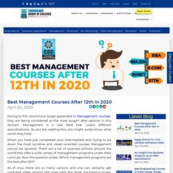 Best Management Courses After 12th in 2020