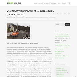 SEO is the Best Form of Marketing for a Local Business