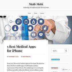 5 Best Medical Apps for iPhone – Medi-Mobi