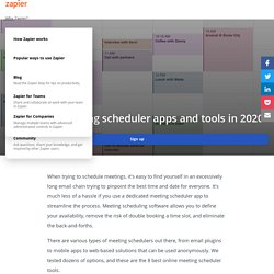 The 16 Best Meeting Scheduler Apps and Tools