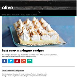 best ever meringue recipes - olive