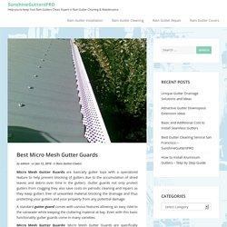Best Micro Mesh Gutter Guards blog