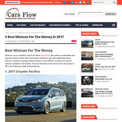 5 Best Minivan For The Money in 2017