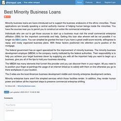 Best Minority Business Loans