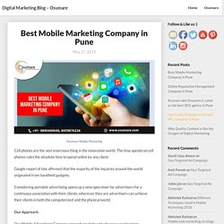 Best Mobile Marketing Company in Pune