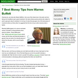 7 Best Money Tips from Warren Buffett