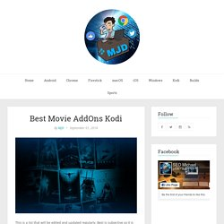 Best Movie AddOns Kodi 2016