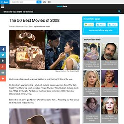 The 50 Best Movies of 2008