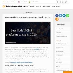 Best NodeJS CMS platforms to use in 2020