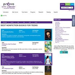 Best Nonfiction Books for Teens