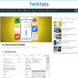 Top 10 Best note apps for iPhone – Page 3 – TechZolix