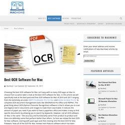 Best OCR Software For Mac