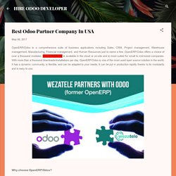 Best Odoo Partner Company In USA