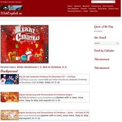 Best of Christmas, 1-6 – WebEnglish.se