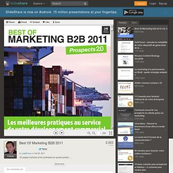 Best Of Marketing B2B 2011