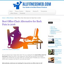 Best Office Chair Alternative for Back Pain in 2016