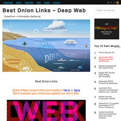 Best Onion Links - Deep Web