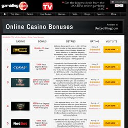 Best Online Casino Bonuses - UK