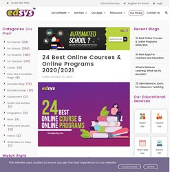 24 Best Online Courses and Online Programs 2020/2021