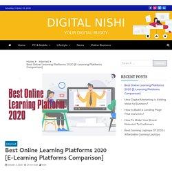 Best Online Learning Platforms 2020 [List of Online Learning Platforms]