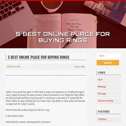 5 Best online place for buyingrings