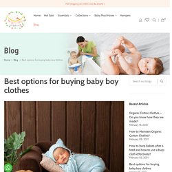 Best options for buying baby boy clothes