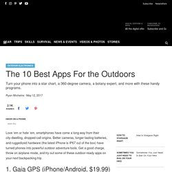 The 10 Best Outdoor Apps - Backpacker