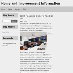 Best Painting Experience For You