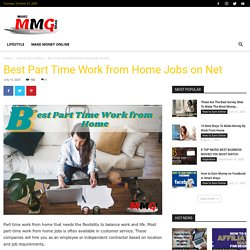 Best Part Time Work From Home Jobs On Net - Make Money Grab