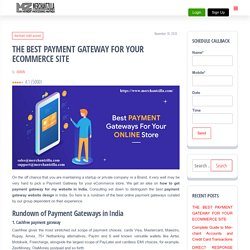 THE BEST PAYMENT GATEWAY FOR YOUR ECOMMERCE SITE - My Blog