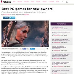 Best PC games for new owners