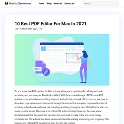 10 Best PDF Editor For Mac In 2021