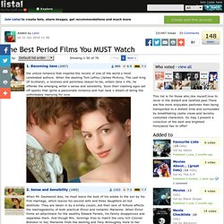 The Best Period Films You MUST Watch list